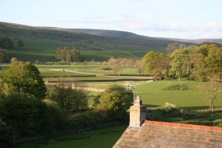 wensleydale spring view from Wensleydale House
